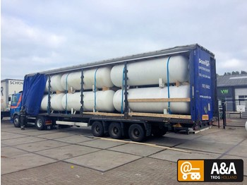 Полуприколка цистерна Diversen 12 X GAS LPG TANK LOADED ON 13.60 TRAILER